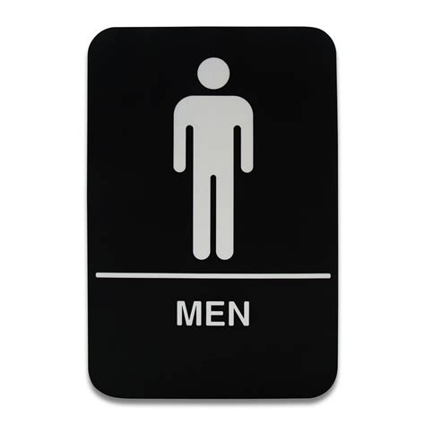 xmen bathroom sign co rect products 6 x 9 men s restroom sign public