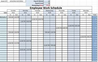 employee templates free work schedule template excel templates