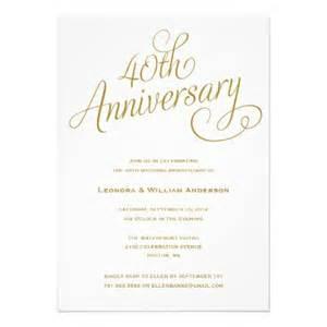 40th wedding anniversary invitations 40th wedding anniversary invitations