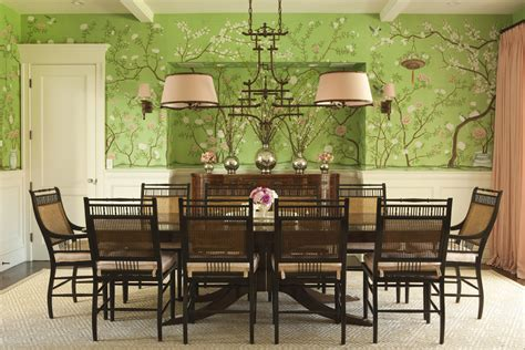 Green Themed Dining Room Interiors Designs Of Greenwich By Thornton