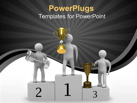 Powerpoint Template Award Presentation Of Gold Silver Award Powerpoint Template