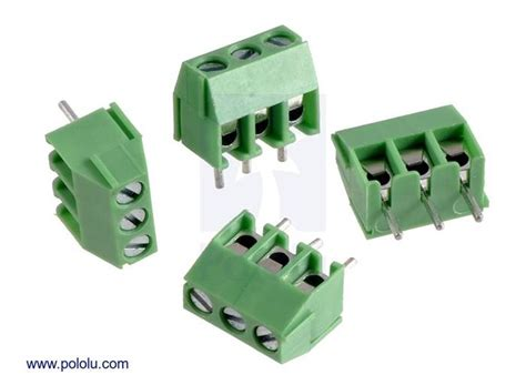 Terminal Connector 3pin Pitch 7 6mm Side Entry terminal block 3 pin 3 5 mm pitch side entry 4 pack