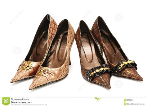 Two Pairs Of Shoes by Two Pairs Of Shoes Isol Stock Image Image 2189351