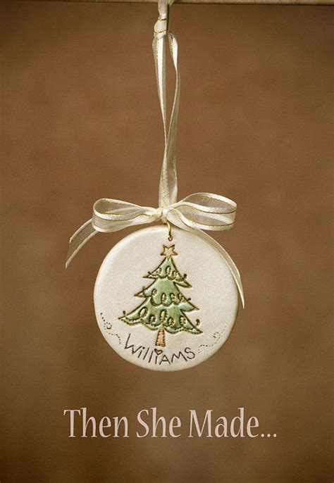 personalized christmas tree ornament