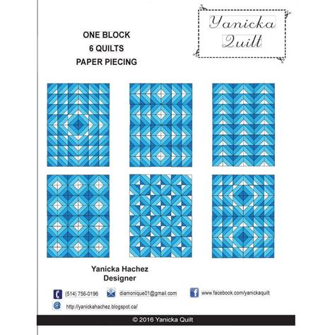 pattern ease htc retail creative interfacings one block 6 quilts paper piecing monfil ca