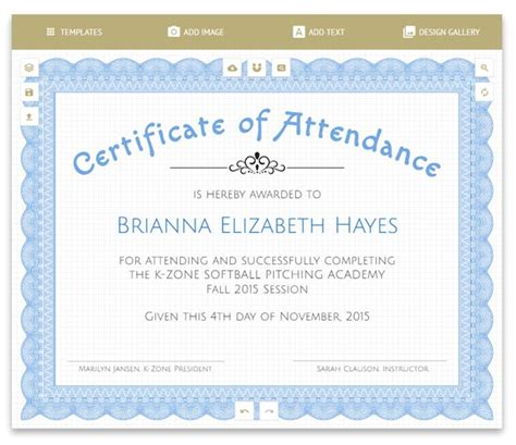 Formal Award of Excellence Certificate Template