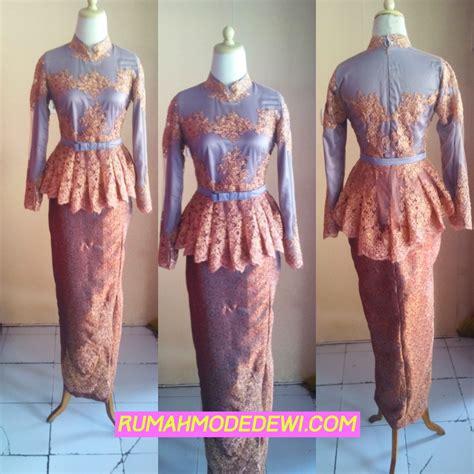 desain dress sepan kebaya muslim peplum bawahan rok sepan