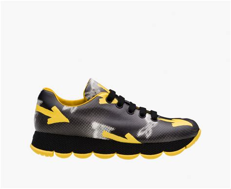 prada shoes gorgeous prada black yellow sneaker w451390 prada shoes