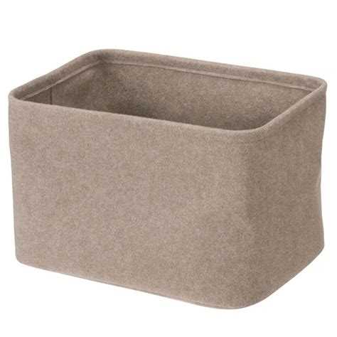 muji baskets natural coloured felt basket large from muji perfect for