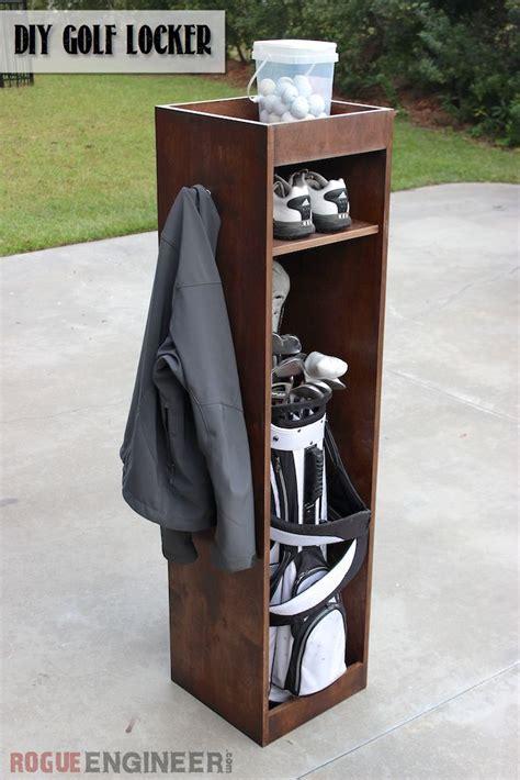 Garage Storage Ideas For Golf Clubs Diy Golf Locker Bags Bag Storage And Sheet Of Plywood
