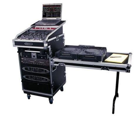16u Flight Case Slant Mixer Laptop Stand Dj Table Mixing Desk Stand