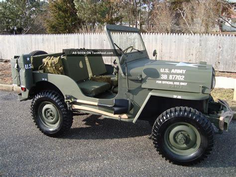 Willys Army Jeep Willys 1963 Cj3b Army M606 Style Type