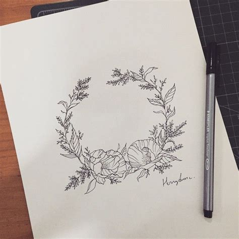 tattoo flower wreath 17 best ideas about wreath tattoo on pinterest laurel