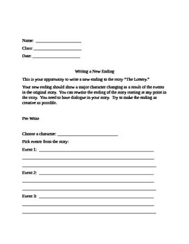 Template To Write An Alternate Ending To A Short Story By Debbi Sevens Writing A Story Template