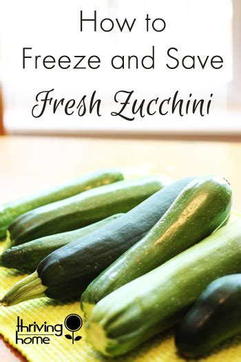 how to freeze and save garden zucchini thriving home