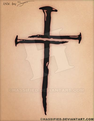 nail cross tattoo nails cross by hassified on deviantart