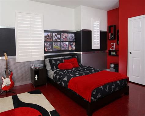 grey red and black bedroom red black and white living room red black and white