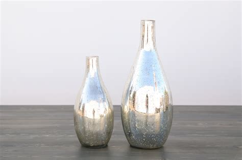 Large Mercury Glass Vase by Large Mercury Glass Vase Out Of The Dust Rentals