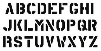 stencils on burlap canvas stencil lettering