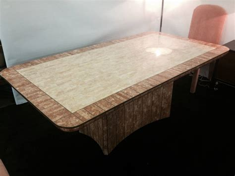 Granite Inlay Dining Table Maitland Smith Fossil Bronze Inlaid Dining Table For Sale At 1stdibs