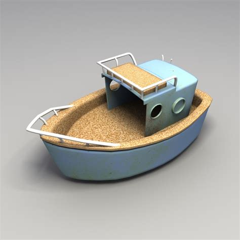 toy boat obj 3ds max used plastic boat