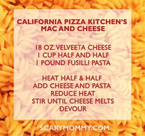 California Pizza Kitchen Mac And Cheese by California Pizza Kitchen S Mac And Cheese Recipe Family