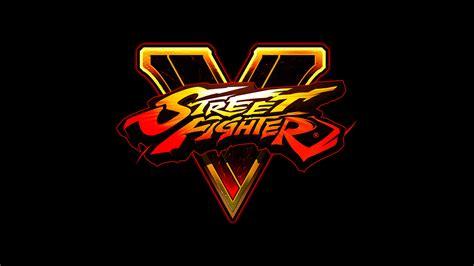 wallpaper logo game street fighter v video game logo hd wallpaper