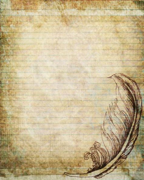 free printable journal pages lined printable journal page pen and ink drawing of a feather