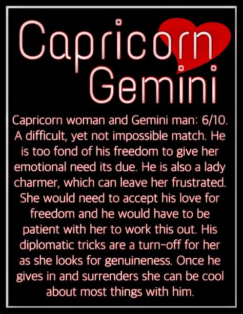 capricorn woman gemini man i am capricorn capricorn is