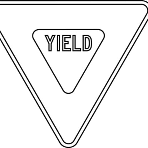 yield sign color yield sign colouring pages