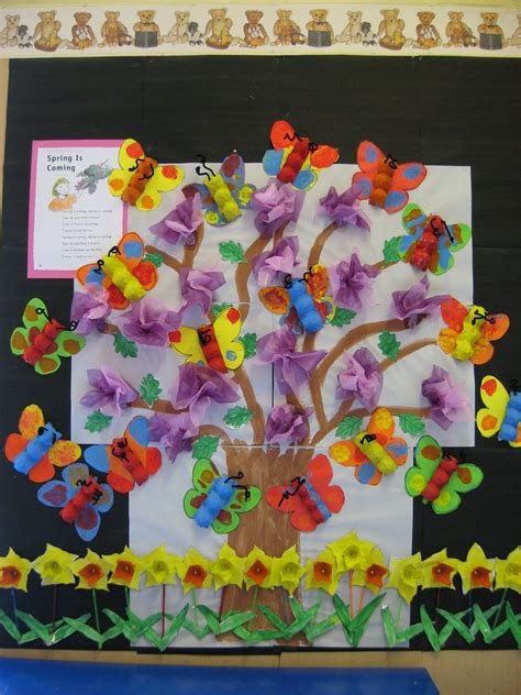 classroom decoration  spring bulletin board idea