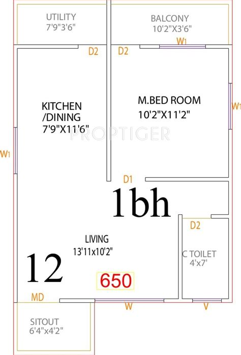 650 square floor plan 650 sq ft house plans