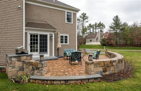 stone for backyard patio 33 stone patio ideas pictures designing idea