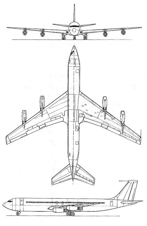 boeing 707 schematic and commercial aircraft