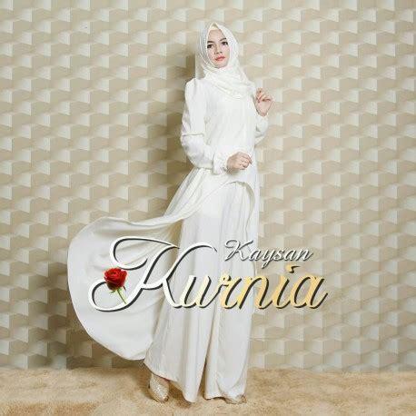 kaysan white baju muslim gamis modern