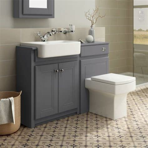 bathroom suites vanity units 1167mm cambridge midnight grey combined vanity unit