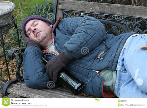 homeless man on bench homeless man on park bench stock image image 526791