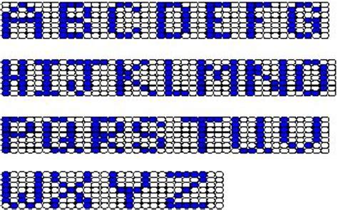 beading alphabet charts sy