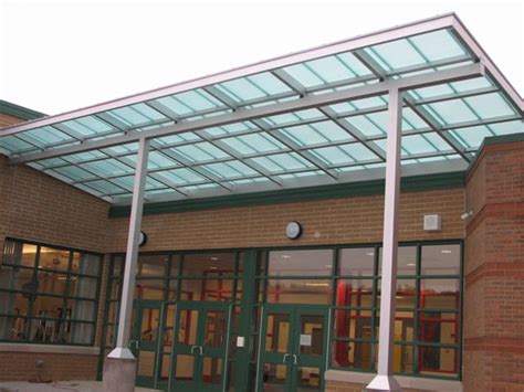 Polycarbonate Awning by Commercial Canopy Slippery Rock Area High School