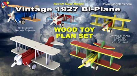 wood toy plans vintage  bi plane youtube