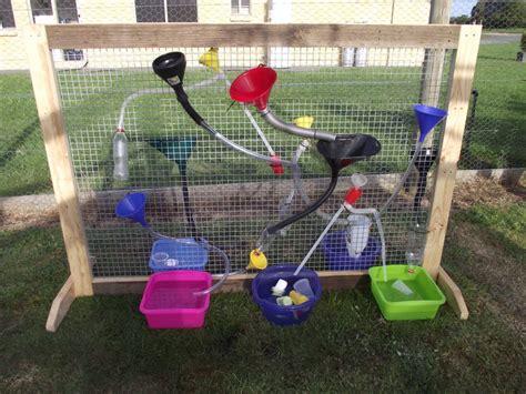 backyard water play water sensory wall peachtree presbyterian preschool