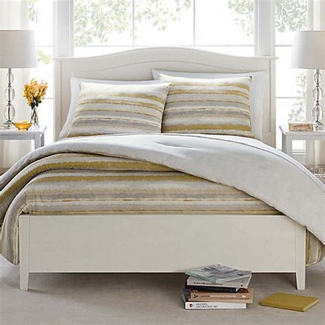 Cotton Bedding Sets Clearance Butter Cotton Painted Stripe Comforter Set In Taupe Bed Bath Beyond