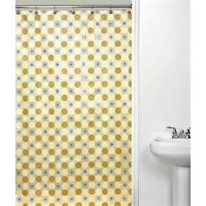orbit yellow shower curtain at hayneedle