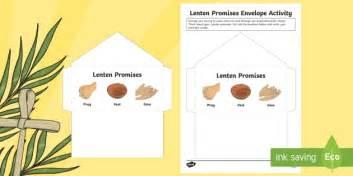 lenten promise card template lenten promises envelope activity lent lenten