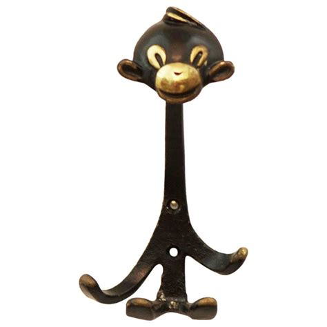 monkey hook monkey wall hook by walter bosse for sale at 1stdibs