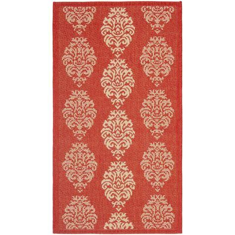 2 x 5 rugs safavieh courtyard 2 ft 7 in x 5 ft indoor outdoor area rug cy2720 3707 3 the