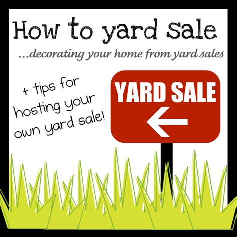where to find yard sales how to shop yard sale series