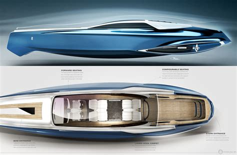 rolls royce 450ex luxury yacht concept brings refinement