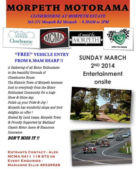 morpeth motorama shannons club