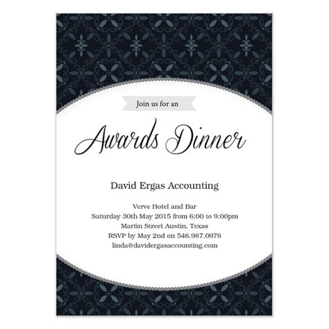 awards dinner in black invitations cards on pingg